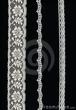 Free 3 Delicate Lace Borders Royalty Free Stock Photography - 4103117