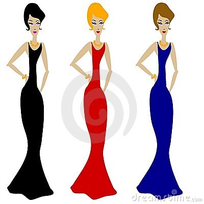 3 Divas In Long Dresses