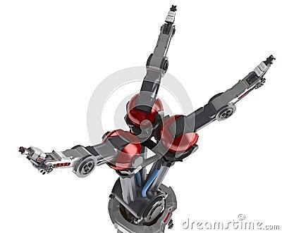 3 Finger Robot Hand, Spread