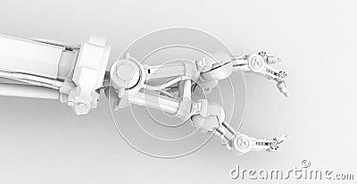 3 Finger Robot Hand, White