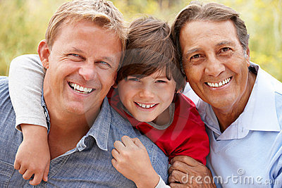 3 generations Hispanic men