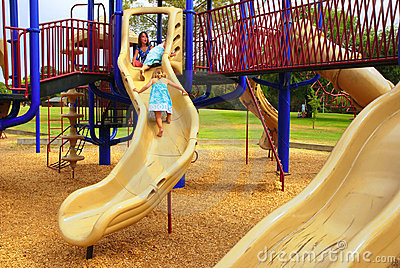 3 Girls on Slide