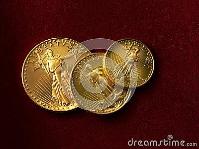3 gold liberty coins