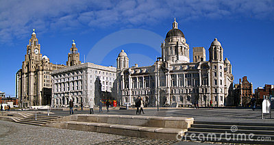 The 3 graces, liverpool water front