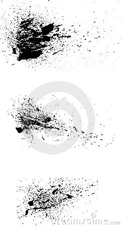 Free 3 Grunge Paint Spatters Vector Stock Image - 3940301