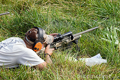 3-Gun Charity Competition Editorial Stock Image