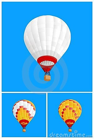 3 hot air ballon