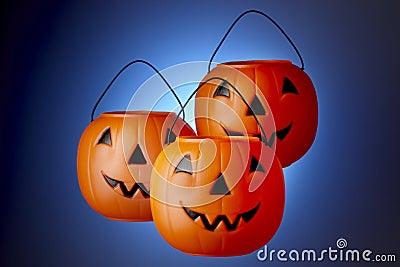 3 Jack-O-Lanterns