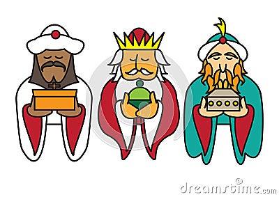 3 kings bearing gifts