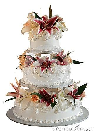 Free 3 Layer Wedding Cake Stock Images - 2082704