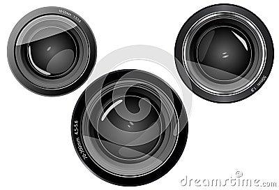 3 lens camera lens