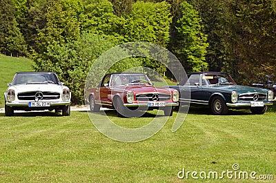 3 Mercedes Benz 280 SL cabrio Editorial Stock Image