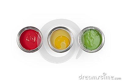 3 Paint cans