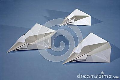 3 paper aircrafts