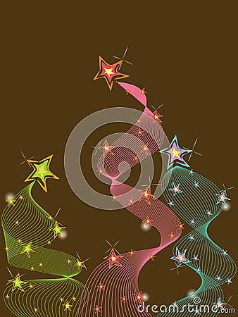 3 pastel glitter stars twist
