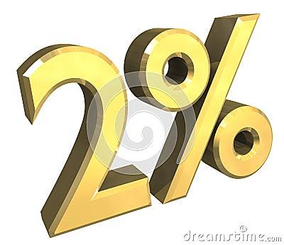 3 percent in gold (3D)