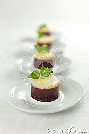 3 piec cheesecakes czekolad nie