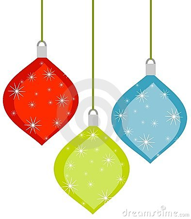 3 Retro Christmas Ornaments