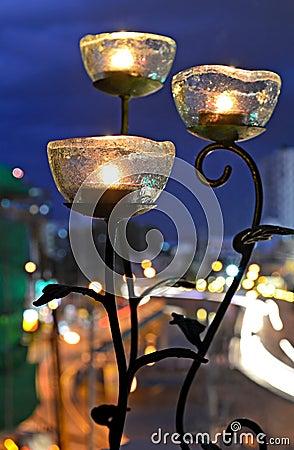 3 roses lamp