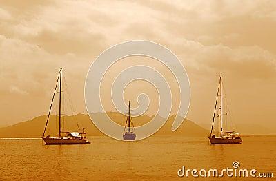 3 sailing boats