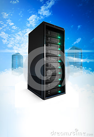 Free 3 Servers On A Cloud Stock Image - 29675681