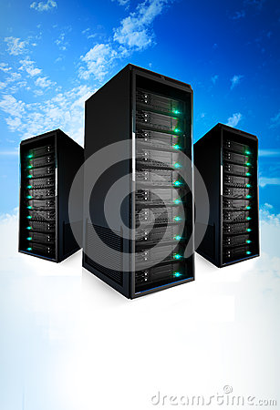 Free 3 Servers On A Cloud Stock Photos - 29675693