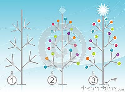 3-Step Christmas Tree Decorating Kit