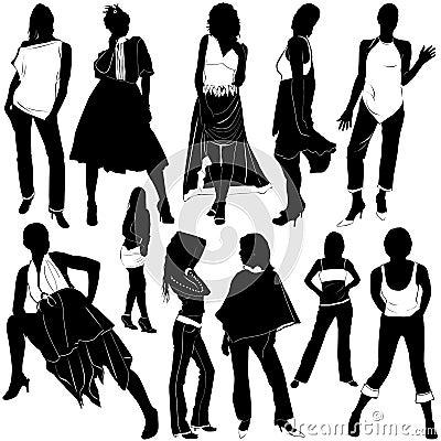 3 wektora mody kobiety