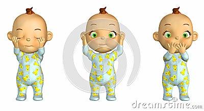 3 Wise Baby Cartoon