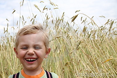 3 years old boy laughing