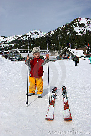 3 Years old ready to Ski