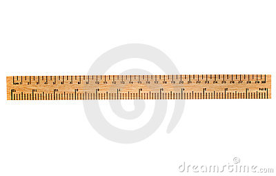 A 30 cm wooden ruler.