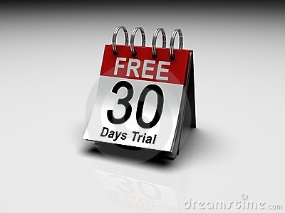 30 days free trial stock image image 13241211