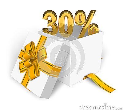 30  discount concept