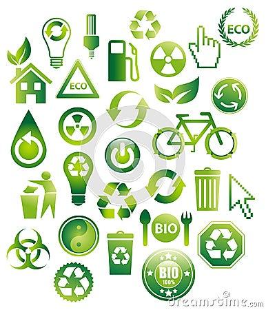 30 Eco Bio Icons
