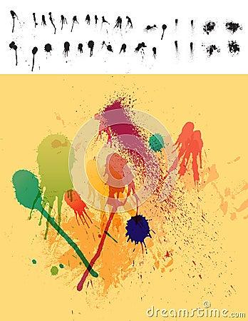 30 Paint Drips & Spatter Elements