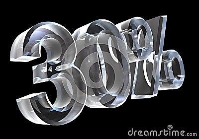 30 percent in glass (3D)