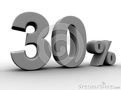 30 pour cent