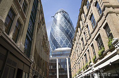 30 St Mary Axe, Gherkin Editorial Stock Image