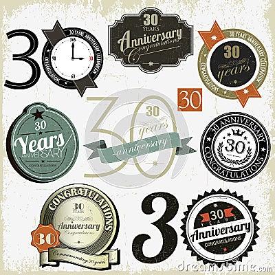 30 years anniversary signs