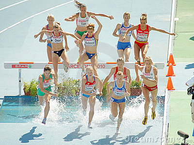 3000m Steeplechase Women event Editorial Image