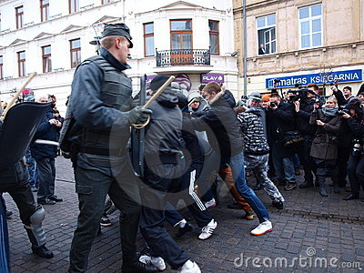 30th anniversary of Martial Law, Lublin, Poland Editorial Stock Image
