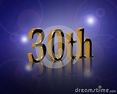 30Th Birthday or anniversary party Invitation