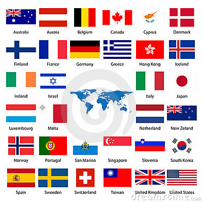 Free 32 Industrialized Country Flag Royalty Free Stock Photography - 5311587