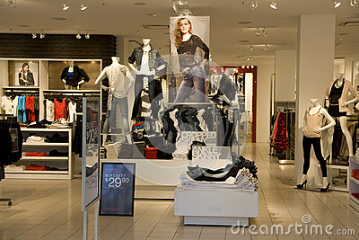 Fashion clothes store. Women clothing stores