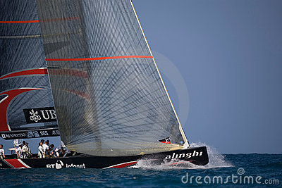 32nd America s Cup Editorial Stock Photo