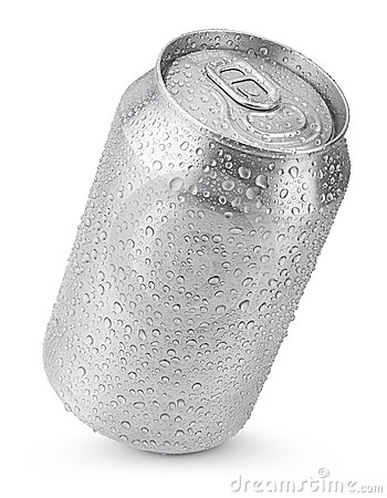 Free 330 Ml Aluminum Can With Water Drops Stock Images - 41024394