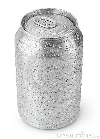 Free 330 Ml Aluminum Can With Water Drops Stock Images - 43195724