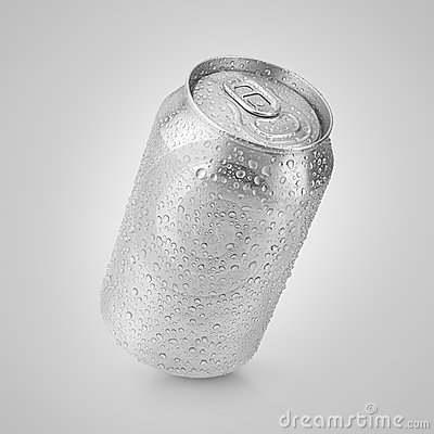 Free 330 Ml Aluminum Can With Water Drops Royalty Free Stock Image - 50487776