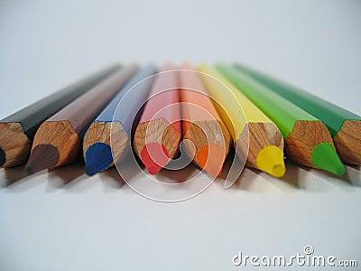 色的蜡笔我